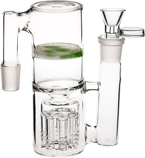 "4/"" small hookah pipe Glass bong fashion smoking water tobacco pipe 14mm two bowl"