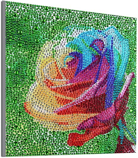 5D Full Drill Embroidery Art Diamond Painting by Number Kit,DIY Diamond Paints