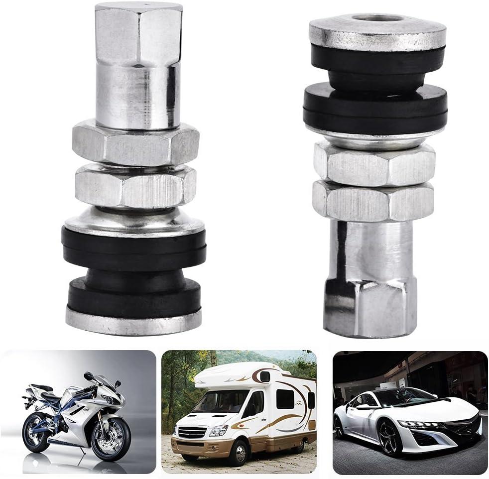 10 st/ücke Auto Lkw Motorrad TR161 Reifenventil Kurze Vorbauten Metallschraube Reifen Ventilschaft Kit mit Staubkappe