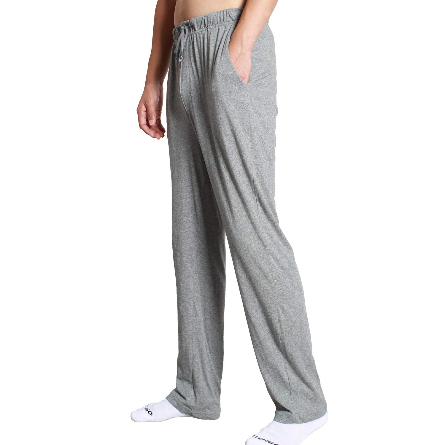XINJU Men s Pajama Lounge Sleep Pants 100% Cotton Jersey Lightweight Super  Soft Bottoms Sleepwear with Drawstring at Amazon Men s Clothing store  d59f2e864