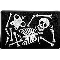 Capacho/Tapete 60x40cm - Haloween Esqueleto