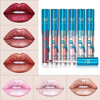 12 Colores Profesional Mate Pintalabios de Maquillaje Larga Duracion para Niñas por ESAILQ A