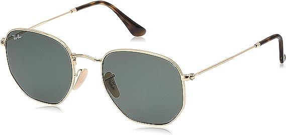 TALLA 51. Ray-Ban Hexagonal Flat Lenses Gafas de sol para Hombre