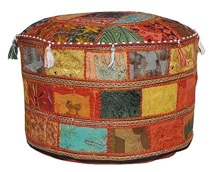 Cuscini Rotondi Per Sgabelli : Bohemian vintage con sgabello poggiapiedi pouf ottoman sgabello
