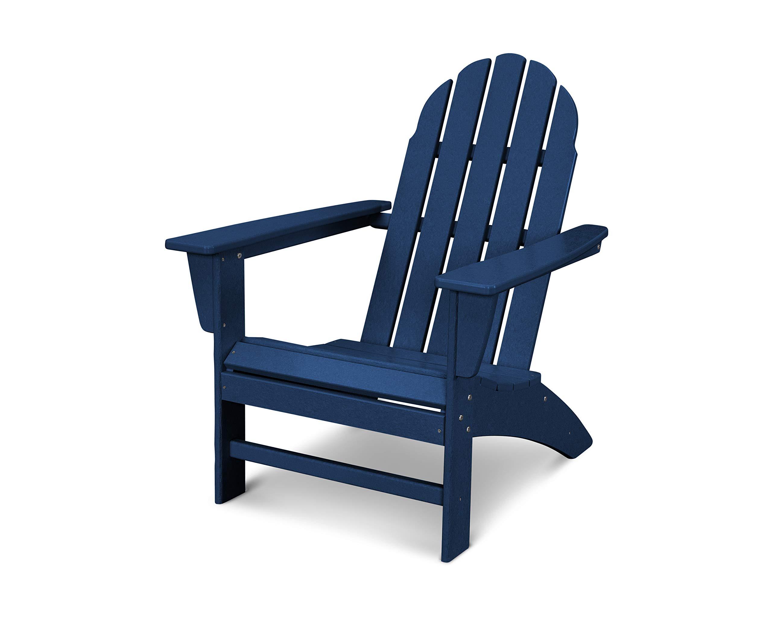 POLYWOOD Vineyard Adirondack Chair, Navy by POLYWOOD