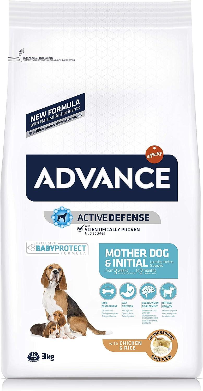 ADVANCE MotherDog & Initial - Pienso para Perras Embarazadas o Lactantes Y Cachorros de Todas Las Razas - 3kg