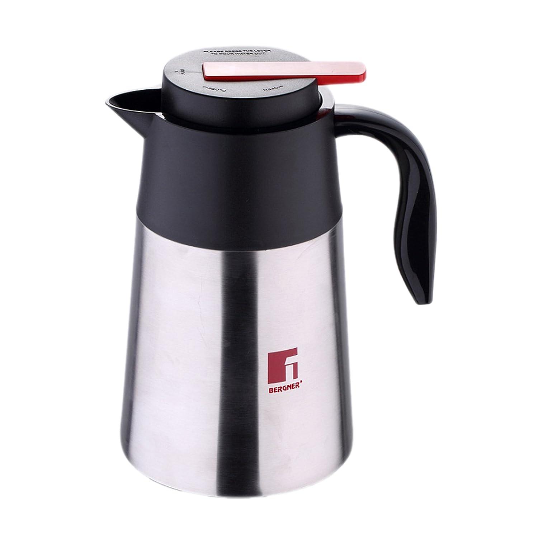 Bergner Latte Cafetera de Vacío, Acero Inoxidable, Cromado Mate, 14x16x24 cm BG-2881-MM