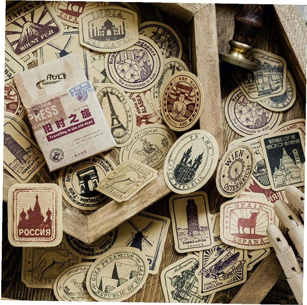 Voyager Cartonnages De Construction Des Autocollants /À Voir Mod/èle /Étiquette D/étanch/éit/é Stickers Scrapbooking Journal Album Diy Artisanat D/écor
