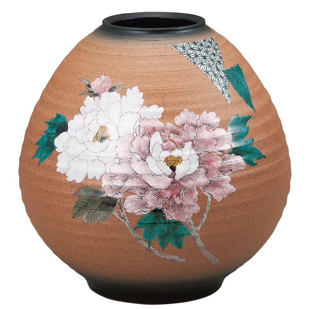九谷焼 8号花瓶 牡丹 B074MMF1LB