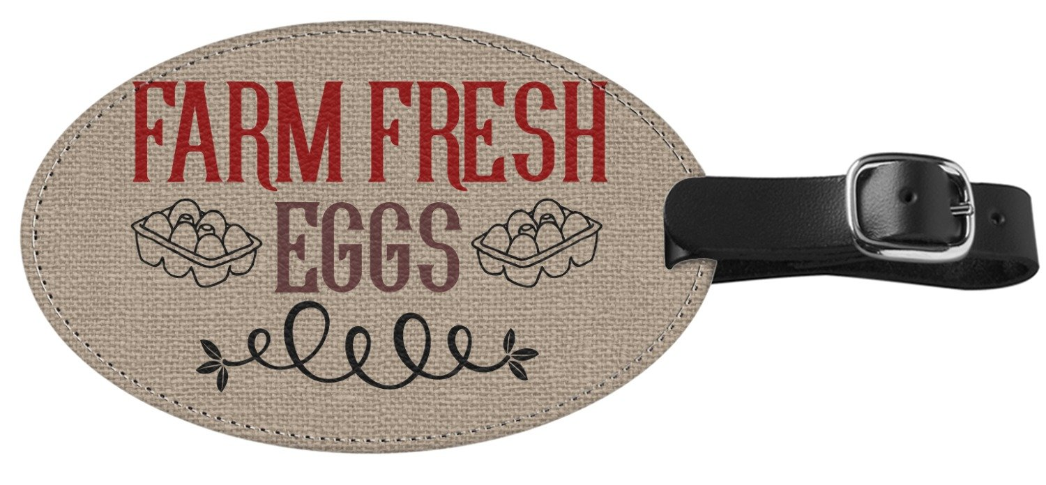 Amazon.com | Farm Quotes Genuine Leather Oval Luggage Tag (Personalized) | Luggage Tags
