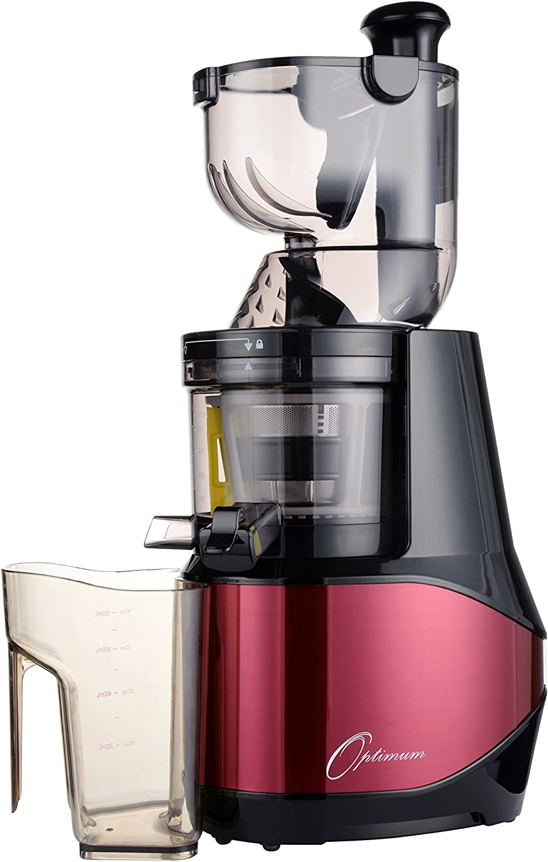 Optimum 700 Discreta kaltpressender Licuadora con 8 cm Bahía XXL 40 U/min, Slow juicer sin Centrifugadora, eléctrica kaltents After, fruta exprimidor, Robot de cocina lentamente drehend rojo: Amazon.es: Hogar