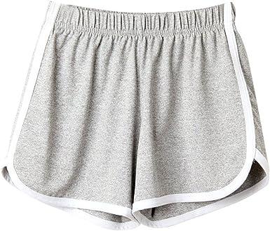 BeautyTop Pantalons Fille Femmes Mode Lady Summer Sport Shorts Plage Courts Rayé Taille LâChe Harem Floral Sports Yoga Leggings Gym Court Running