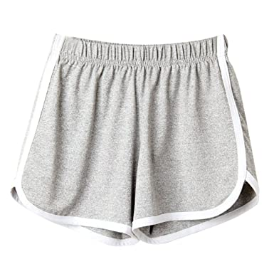 e11bf72b5c BeautyTop Pantalons Fille Femmes Mode Lady Summer Sport Shorts Plage Courts  Rayé Taille LâChe Harem Floral