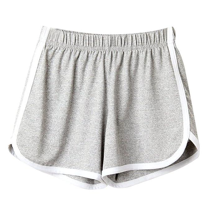 db890a8327 Modaworld Pantalones cortos de verano Mujer deportivos Shorts de playa dama  Pantalones deportivos Mallas de Running Gym Leggins Fitness Running Gym  Yoga  ...
