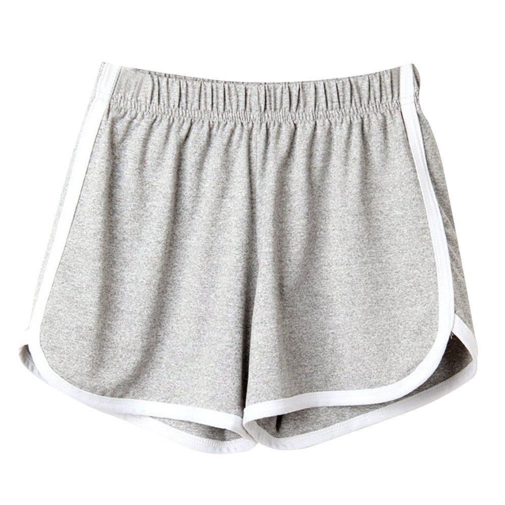 Fashion Shorts for Women,Fashion Women Lady Summer Sport Shorts Beach Short Pants,Sports & Fitness,Gray,S