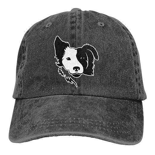33280da018f15 WAYOULUCK Unisex Adjustable Baseball Cap Border Collie Visor Hat at ...
