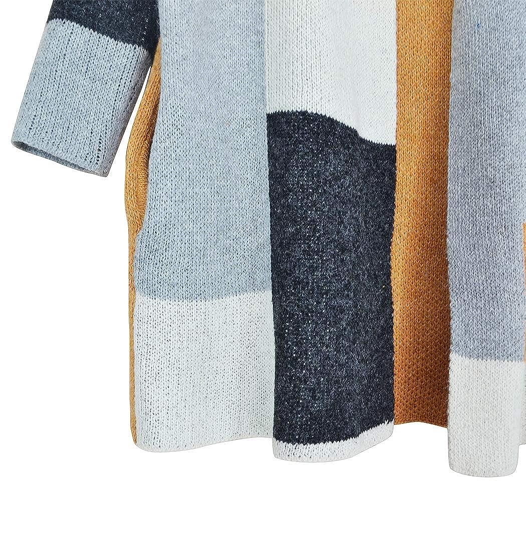 Koitmy Women Open Front Long Sleeve Soft Knitted Cardigan Sweater Outwear