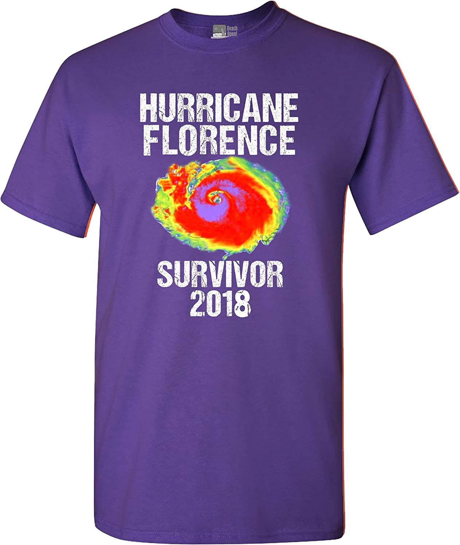 Hurricane Florence Survivor 2018 Storm Support DT Adult T-Shirt Tee