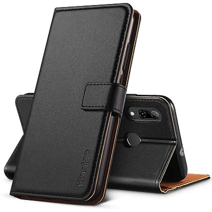 Hianjoo Compatible para Funda Huawei P Smart 2019, Carcasa Huawei Honor 10 Lite de Cuero Suave de la PU con Tapa Cubierta Protectora de la Caso ...