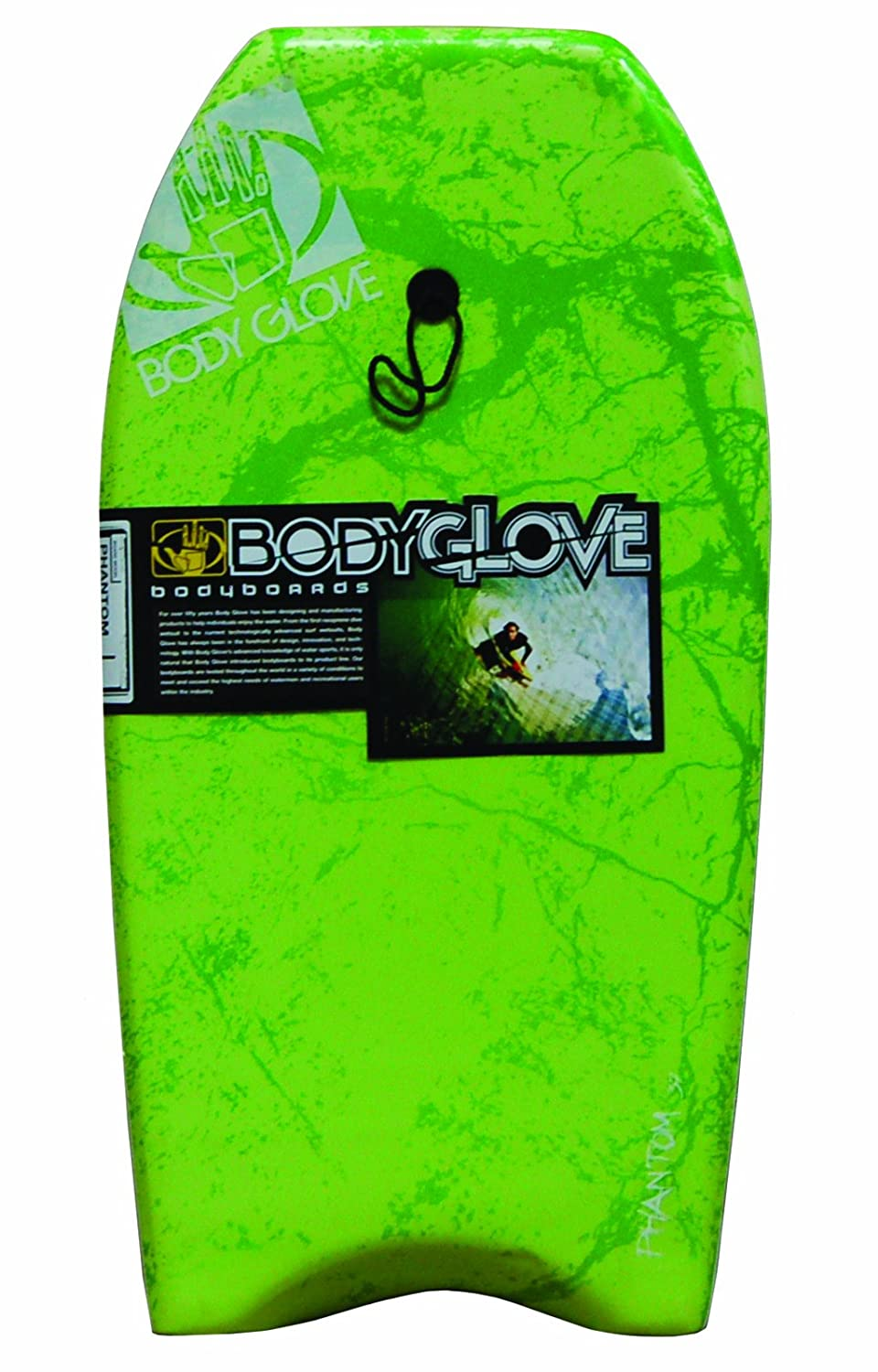 Body Glove - Tabla de Bodyboard Phantom, Color lima/blanco, 37