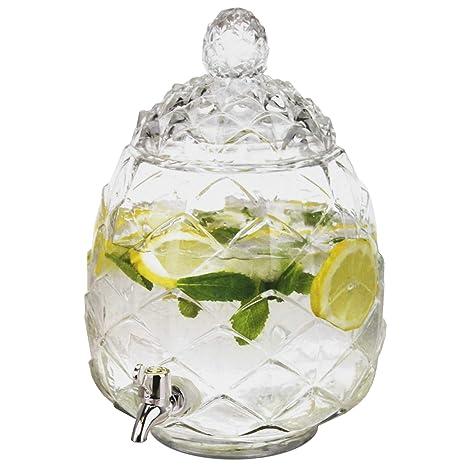 Dispensador de bebidas, 6 litros, 23 cm de diámetro y 35 cm de altura