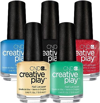 CND Creative Play esmalte de uñas gel – Pack de ahorro 1 – 5 por el precio de 3: Amazon.es: Belleza