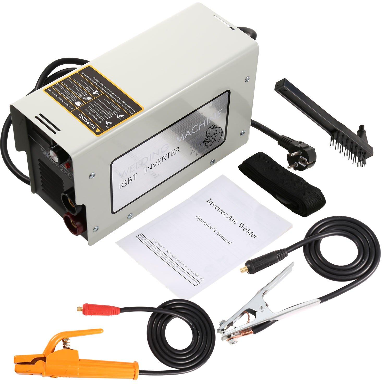 Kaimus 250A Elektrodenschweiß gerä t bis 4,5mm Elektroden, Inverter Schweiß gerä t MMA, IGBT 220V, Lichtbogenschweiß gerä t, leicht nur 5kg
