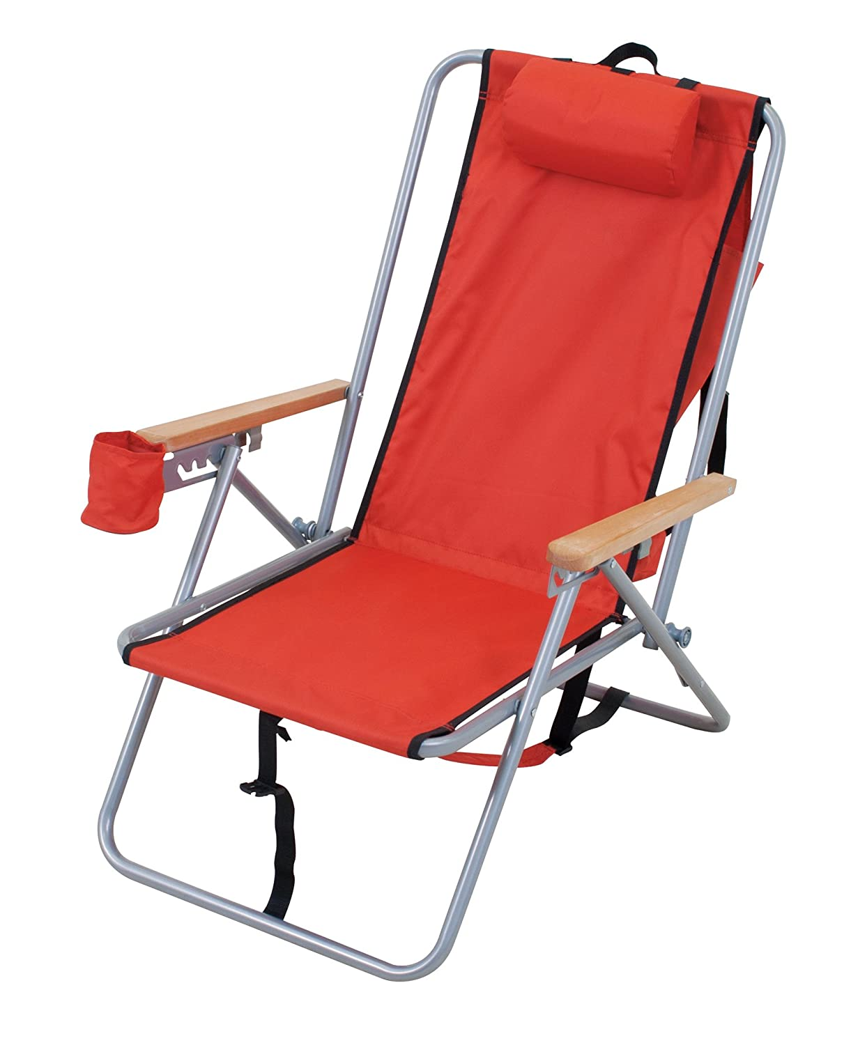 reclining aluminum hi position duty red folding products copa heavy rio layflat seat blue chair titan beach chairs