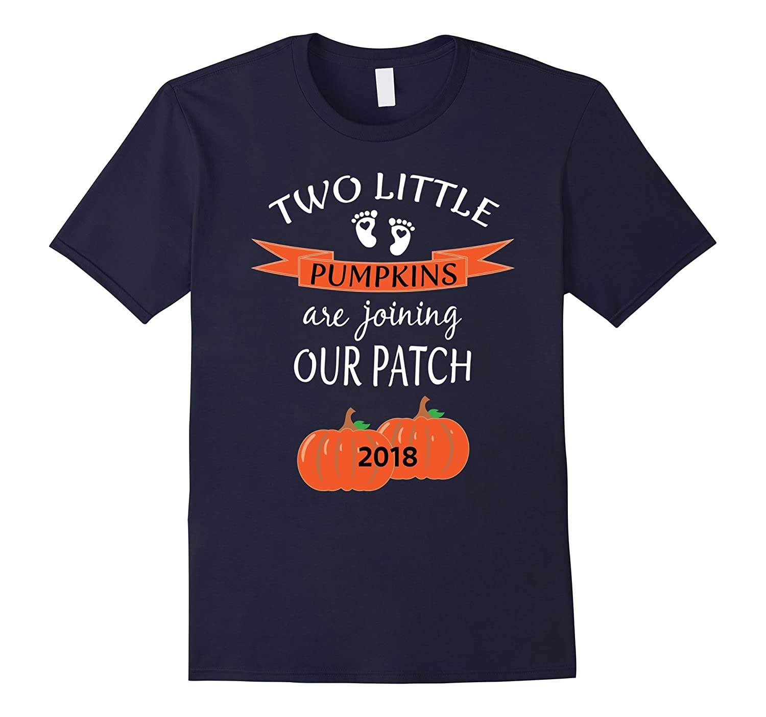 2018 Cute Twins Pregnancy Announcement Shirt Couples Baby-FL