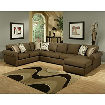 Amazing Furniture Of America Keaton Chenille Sectional Sofa Quartz