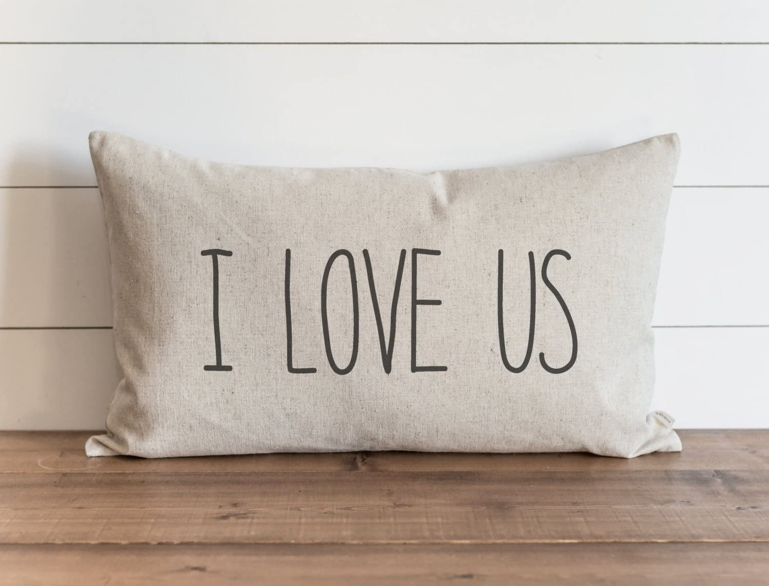 CAROLJU I Love Us 16 x 26 inch Pillow Cover Everyday Anniversary Love Wedding Throw Pillow Gift for Her Accent Pillow