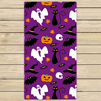 bath towelsbathroom body shower towelcustom funny hallowen time ghost pumpkin halloween beach - Halloween Bath Towels