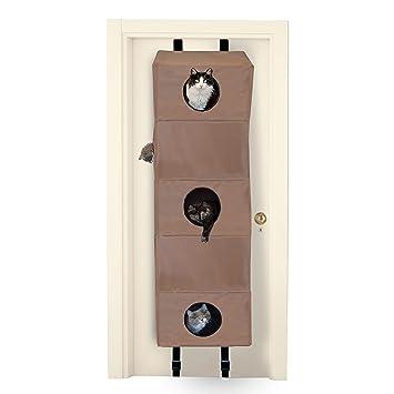 K\u0026H Manufacturing Hangin\u0027 Cat Condo Large Tan 23-Inch by 16-Inch by