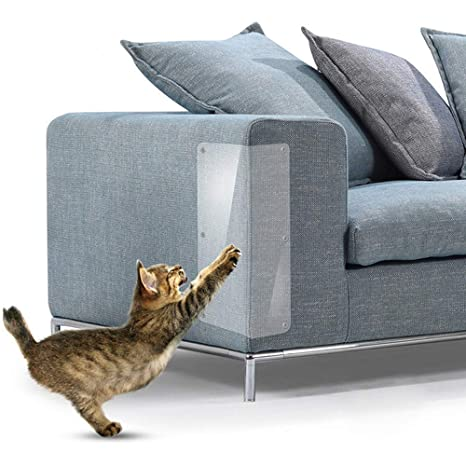 TJW 2pcs Protectores de arañazos para Muebles,Protector de sofá de Mascota de Vinilo,
