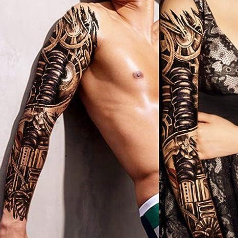 Johnjohnsen 1 Unids Brazo Completo Tatuaje De La Etiqueta Engomada