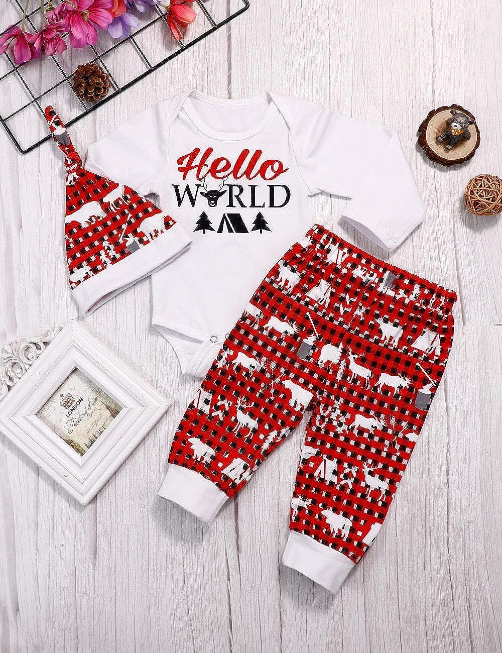 Sfuzwg Set di Abbigliamento per Bambina neonata 2 Pezzi Completi Pagliaccetto Pantaloni Autunno Inverno Fiori Tute