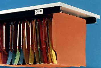 Kit-Class - Rieles de aluminio para carpetas colgantes, 2 unidades, se atornillan a una superficie de madera: Amazon.es: Oficina y papelería