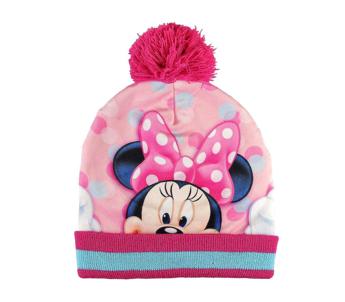 MEDIA WAVE store Completo 3 pz per bambini inverno Minnie 2200002550 cappello guanti e pashmina