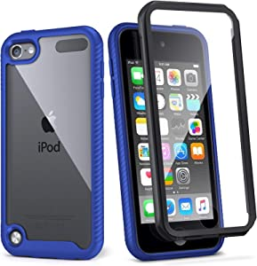 iPod Touch 7th Generation Case, IDweel Armor Shockproof Case Build in Screen Protector Heavy Duty Full Protection Shock Resistant Hybrid Rugged Cover for Apple iPod Touch 5/6/7th Generation, Blue
