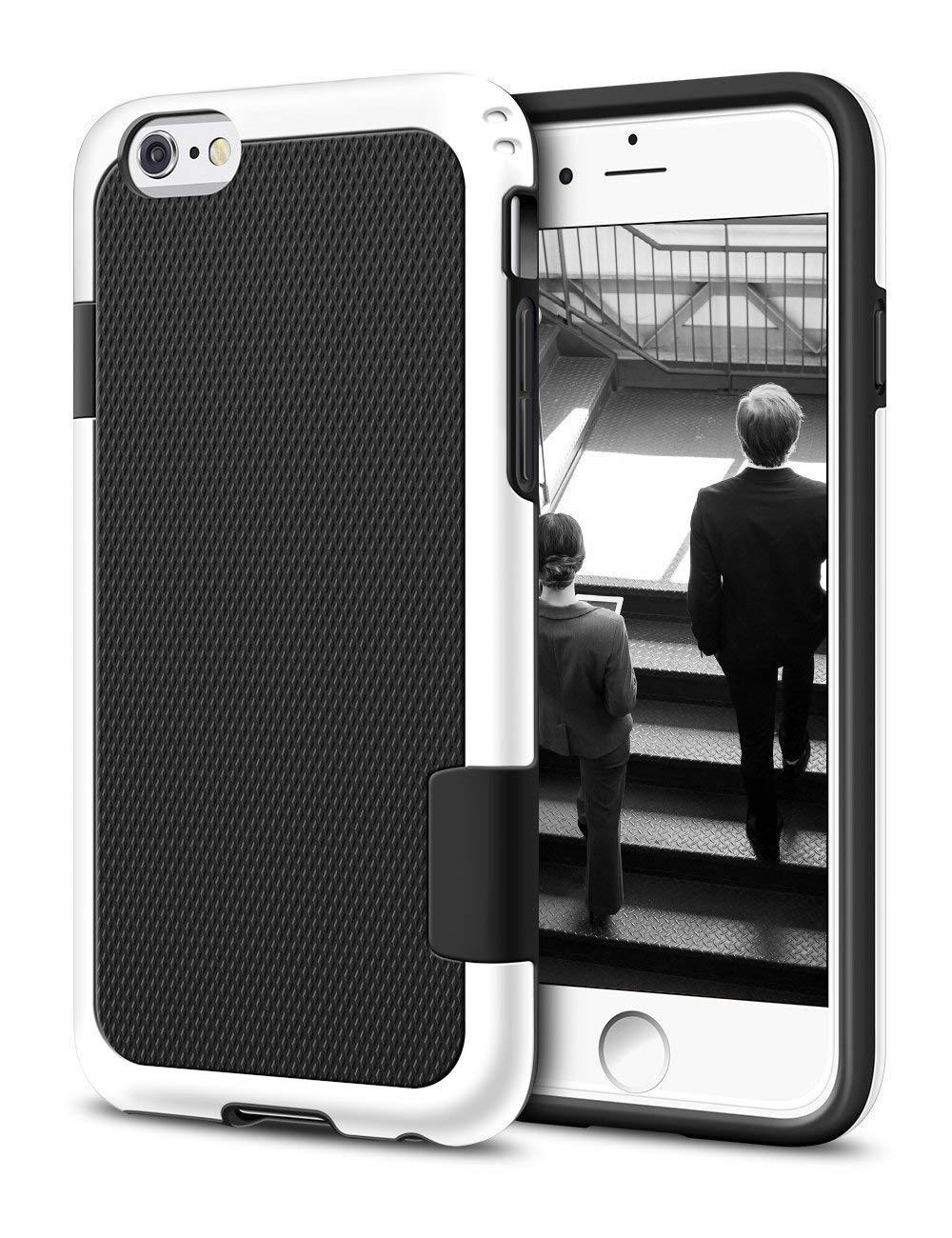 iPhone 6s Plus / 6 Plus Case, LoHi Hybrid Impact 3 Color Shockproof Rugged Case Soft TPU & Hard PC Bumper Anti-slip Cover for Apple iphone 6s Plus 5.5 Inch - Black