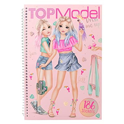 Depesche 10576 Colouring Book with Stickers TopModel Dress Me Up Colourful: Toys & Games