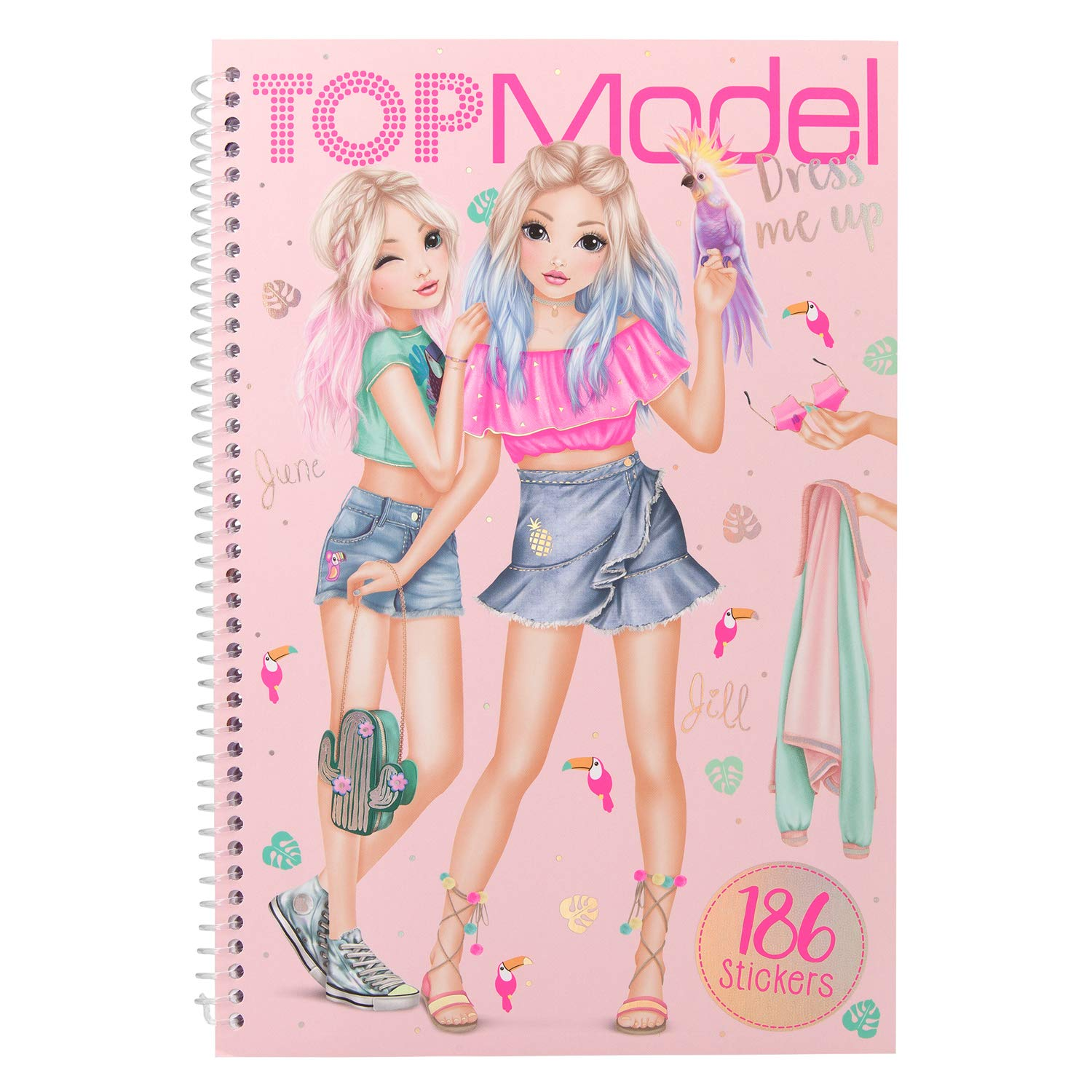 Top Model Stickers.Depesche 10576 Colouring Book With Stickers Topmodel Dress