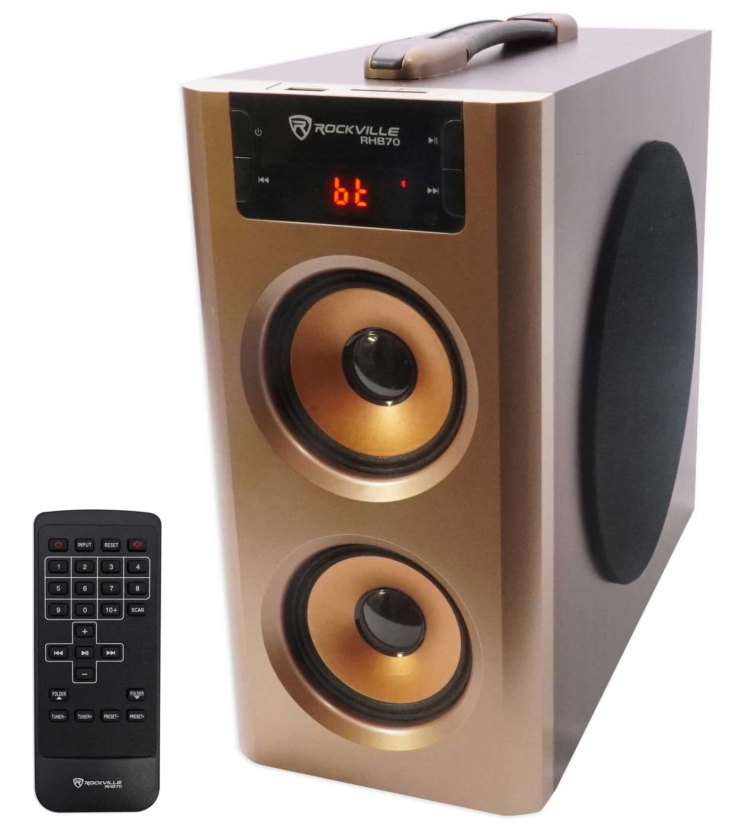 Rockville RHB70 Home Theater Compact Powered Speaker System w Bluetooth/USB/FM by Rockville