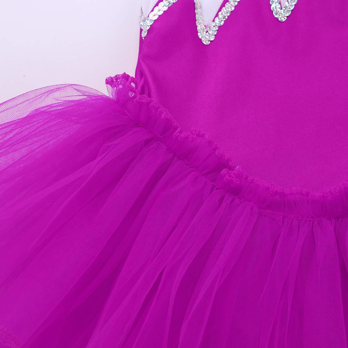iiniim Girls Kids Princess Ballet Dance Tutu Dress Leotard Skirt Costumes