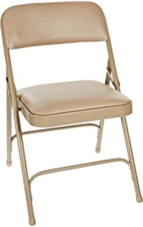 National Public Seating 1200 Series Steel Frame Upholstered Premium Vinyl  Seat And Back Folding Chair With
