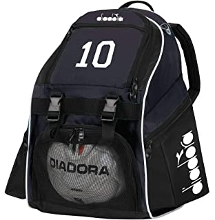 Code Four Athletics Diadora Squadra Soccer Backpack Customized with Your Player Number or Initials