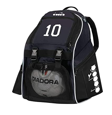 Code Four Athletics Diadora Squadra Soccer Backpack Customized with Number  or Initials - Color Black 57f4807afbaa0