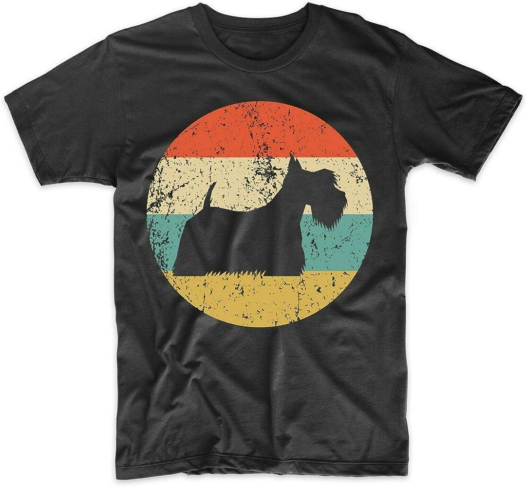 Camisa de Scottish Terrier - Camiseta de Verano de algodón de Moda Escocesa Retro para Hombre de Vintage - Camisa con Icono de Perro: Amazon.es: Ropa y accesorios