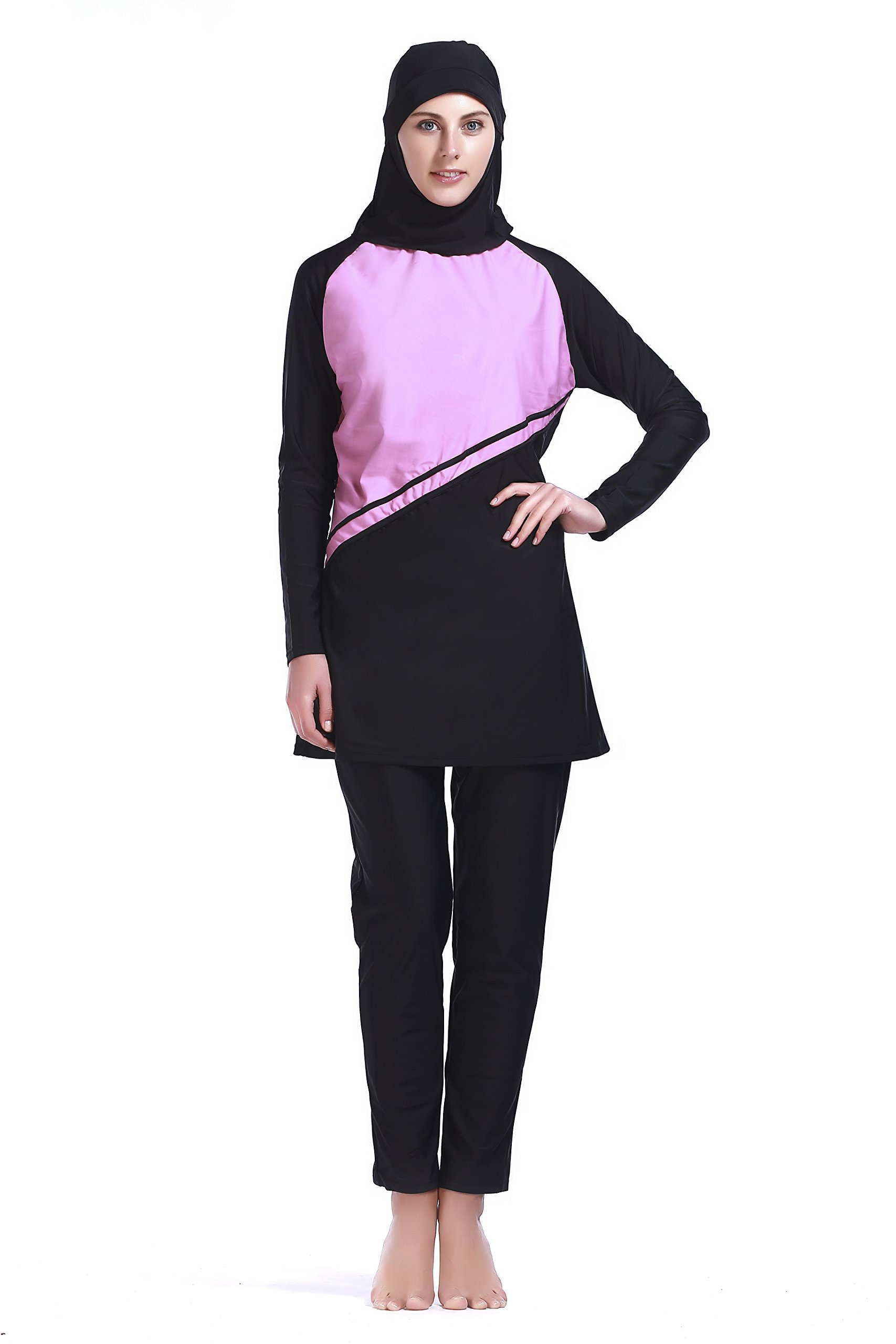 MZ Garment Muslim Swimwear Women Islamic Hijab Modesty Modest Swimsuit Costume (XXL, MS030)