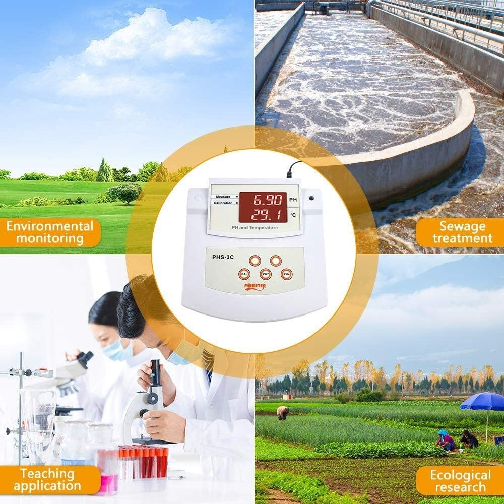 Desktop Digital PH Tester PH ZUQIEE Benchtop Lab PH Meter /±0.01 pH Accuracy PH//Temp 2 Electrodes 2 Points Auto Calibration